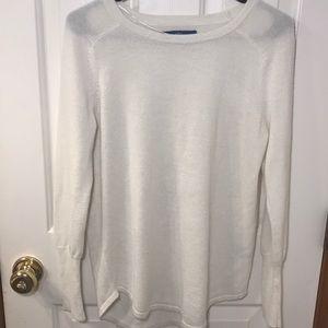 APT. 9 Women's Sz S White Sweater Shimmer